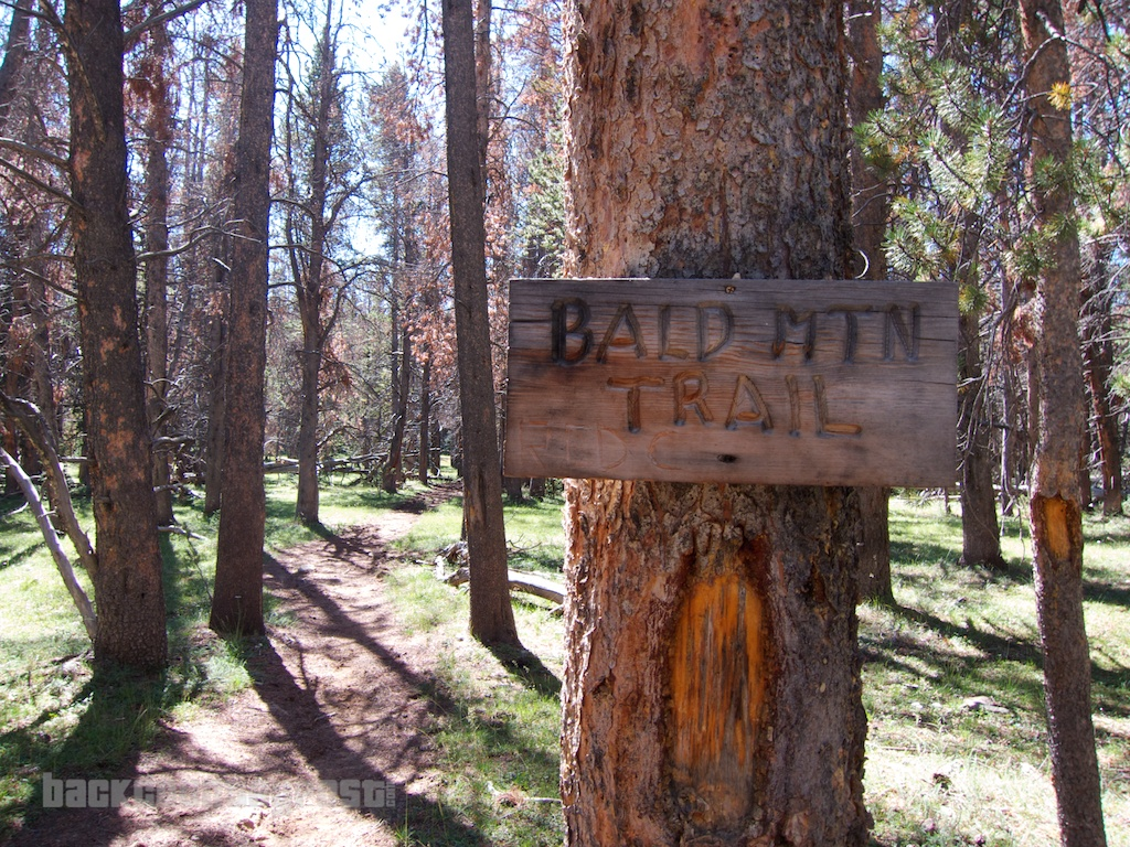 Uintas Bald Mountain Trail Sign