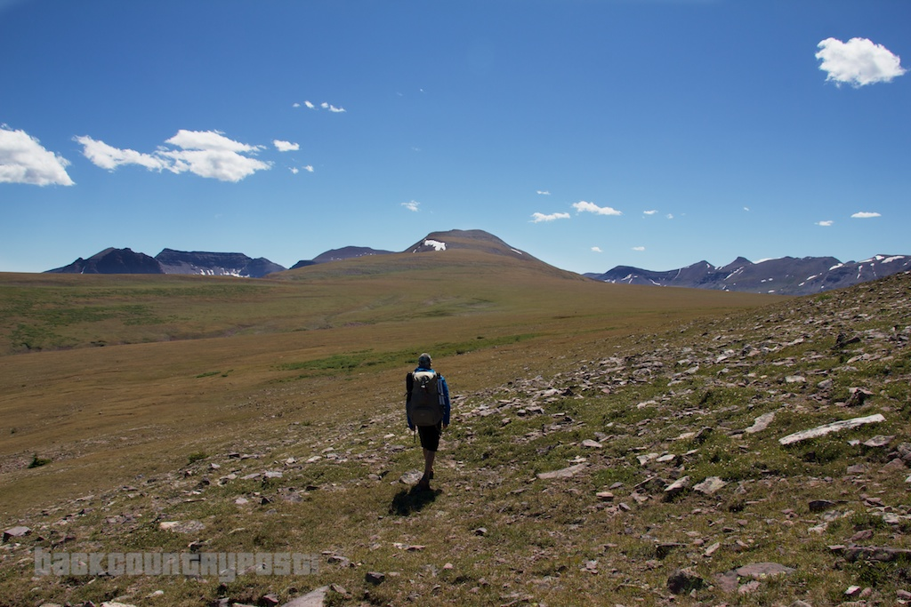 Hiker in Uintas tundra