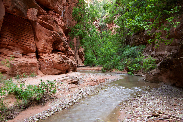The mouth of Bear Trap Canyon