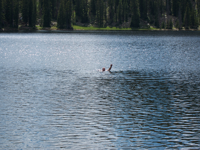 Warmest lake of the year @ 10,200 feet