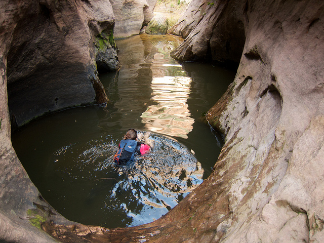 swimming in the zion subway