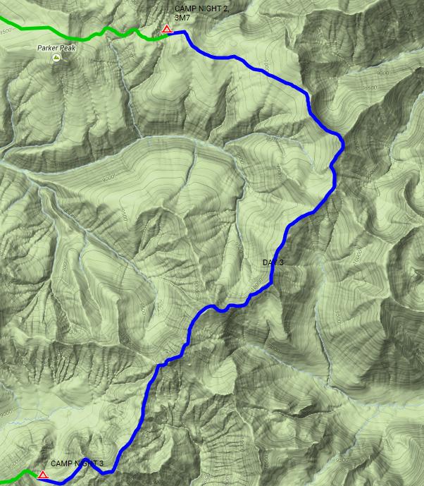 Lamar  Valley Hoodoo Basin route.png
