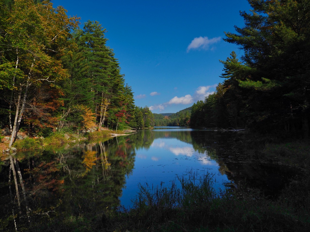 P26-reflections blue sky Pharaoh lake-PA100450.jpg
