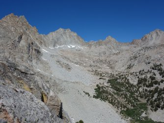 Ascending the rib to the right of Picture Peak