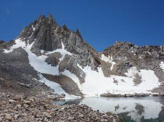 The tarn below Mt Haeckel