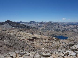 Palisade Basin from Thunderbolt Pass