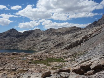 Looking back at Barrett Lakes from Potluck Pass