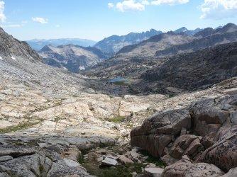 Drainage between Palisade Basin and Potluck Pass