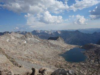 Looking back at 11676' Lake