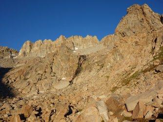 Morning light on Palisade Crest