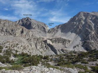 The obstacles between Elinore Lake and Contact Pass